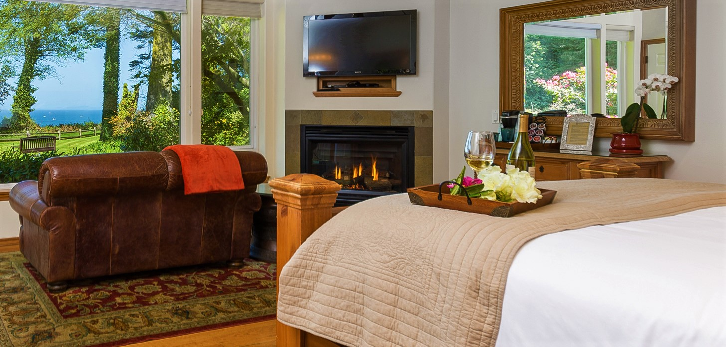 Cedar Suite Room View with Fireplace