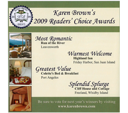 Karen Brown's Readers' Choice Awards Lists Colette's as Greatest Value